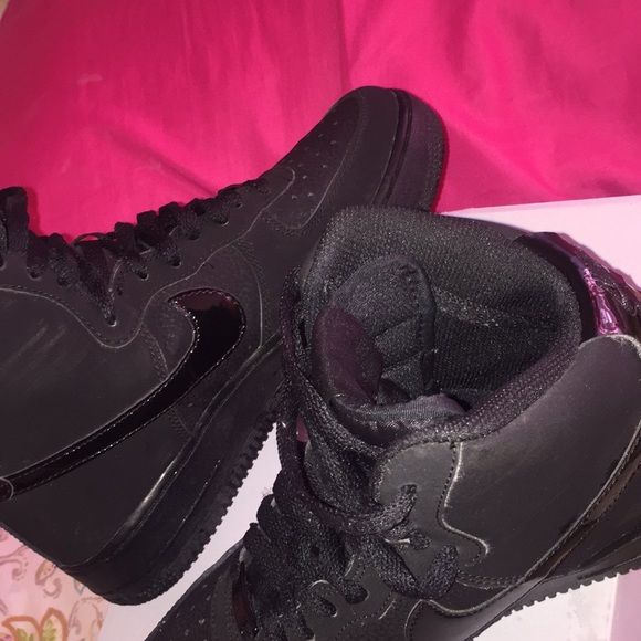 Nike Shoes | Air Force Black Uptowns